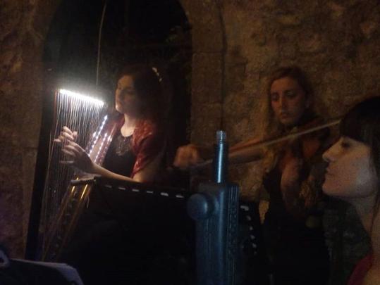 Moonlight Trio Harp, Voice and Violin Borgo in Musica.PNG